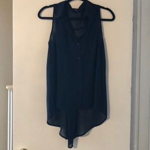 Rue 21 High Low Button-Up Tank
